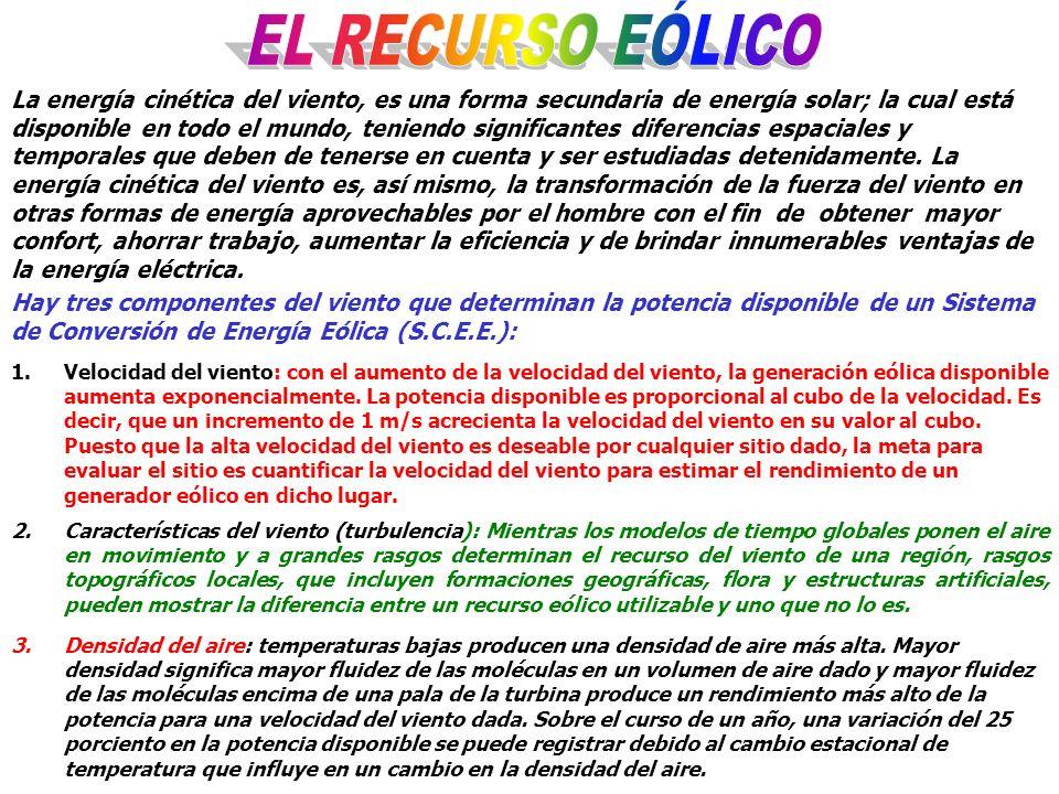 EL RECURSO EÓLICO