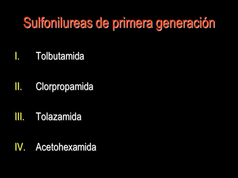 Sulfonilureas de primera generación