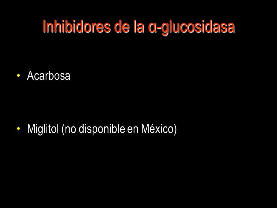 Inhibidores de la α-glucosidasa