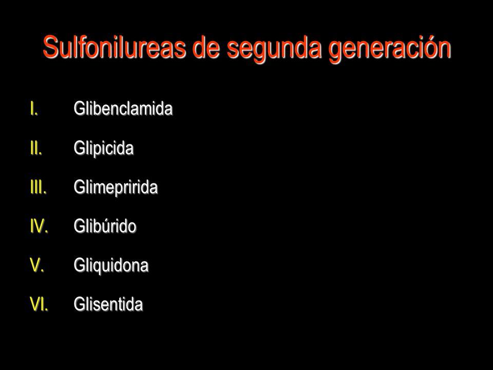 Sulfonilureas de segunda generación