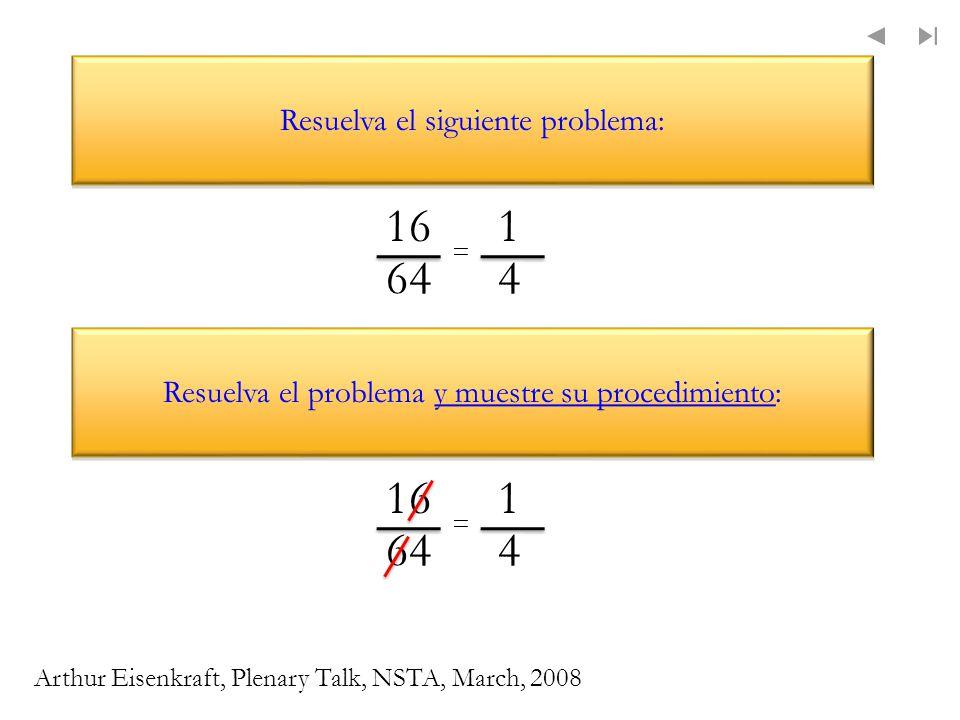 16 1 4 64 16 64 1 4 Resuelva el siguiente problema: