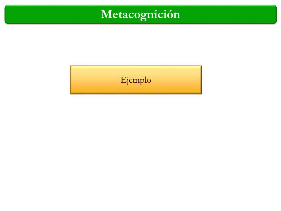 Metacognición Ejemplo 4/2/2017