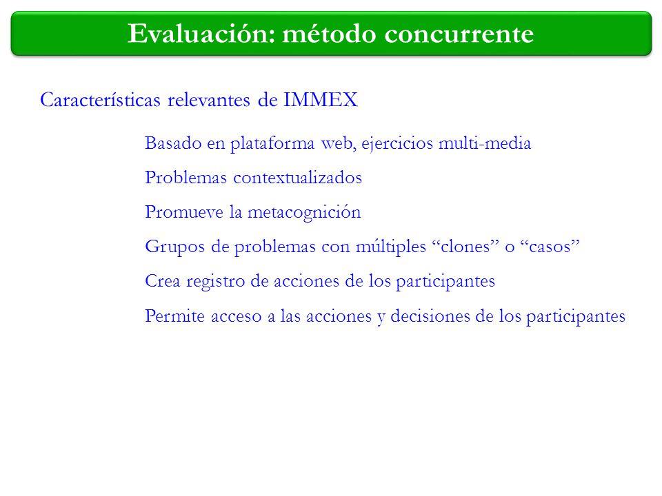 Evaluación: método concurrente