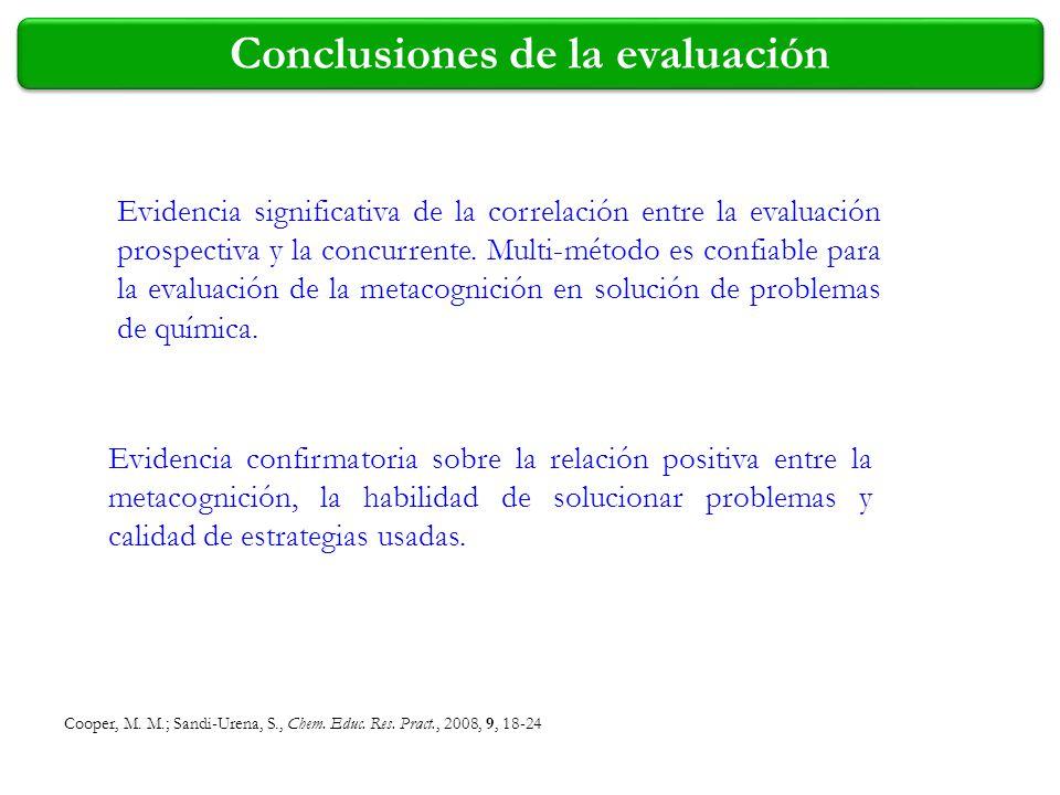 Conclusiones de la evaluación