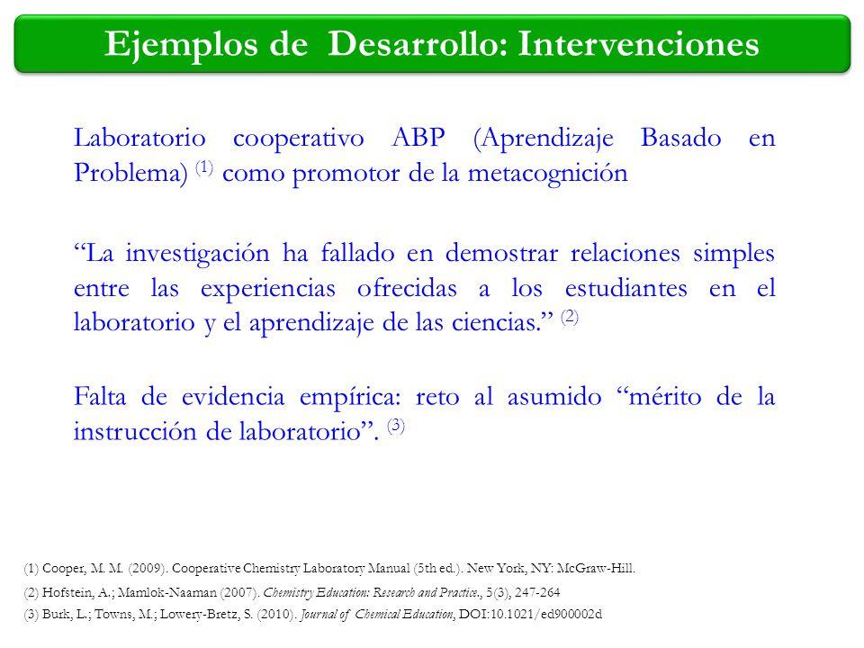 Ejemplos de Desarrollo: Intervenciones