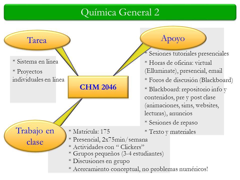 Química General 2 Apoyo Tarea Trabajo en clase CHM 2046