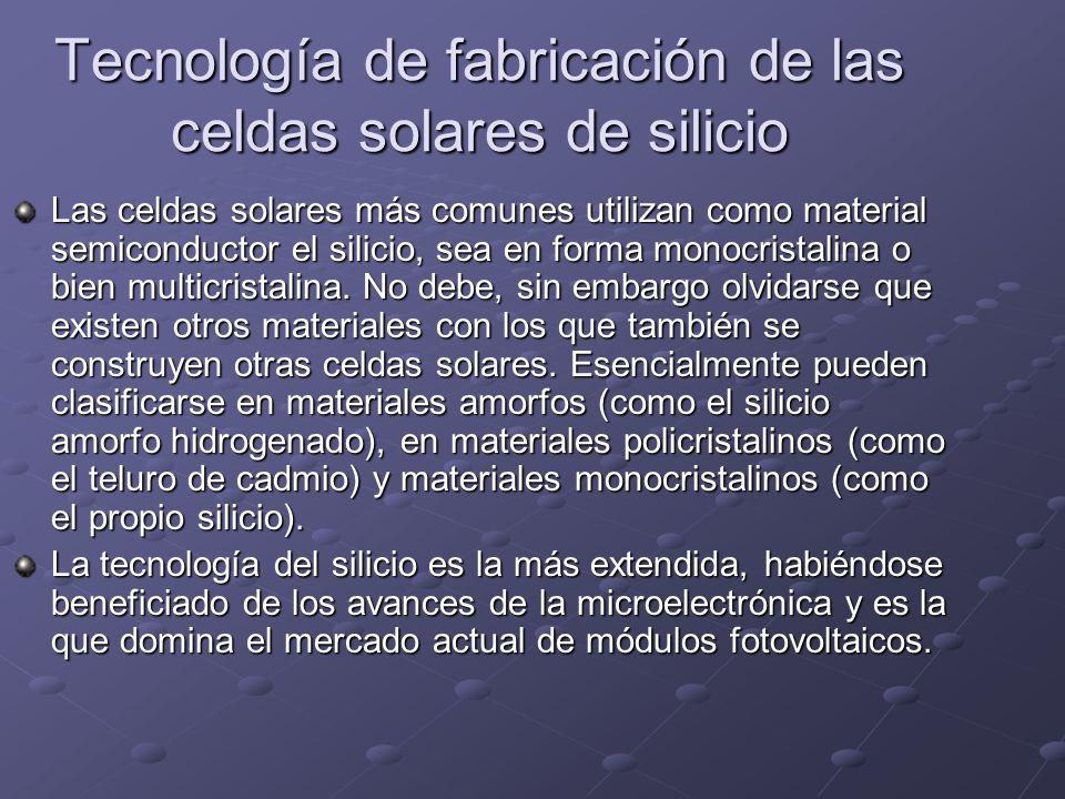 Tecnología de fabricación de las celdas solares de silicio