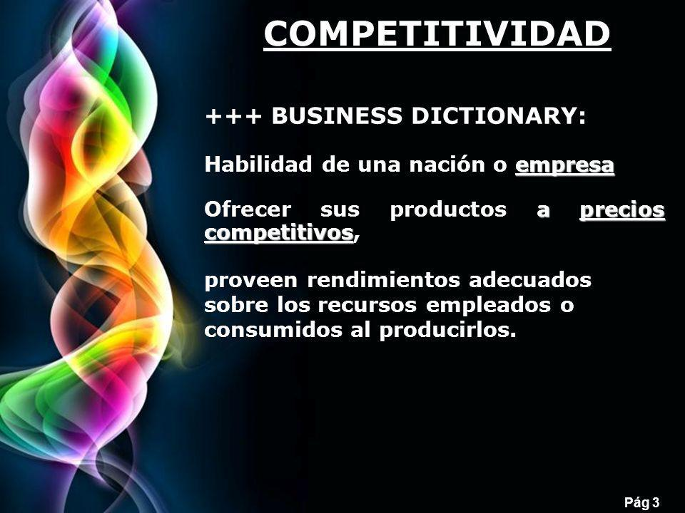 COMPETITIVIDAD +++ BUSINESS DICTIONARY: