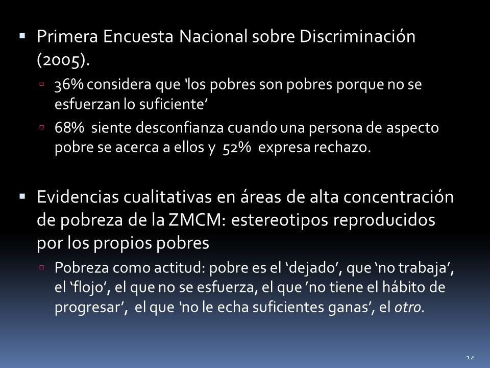 Primera Encuesta Nacional sobre Discriminación (2005).