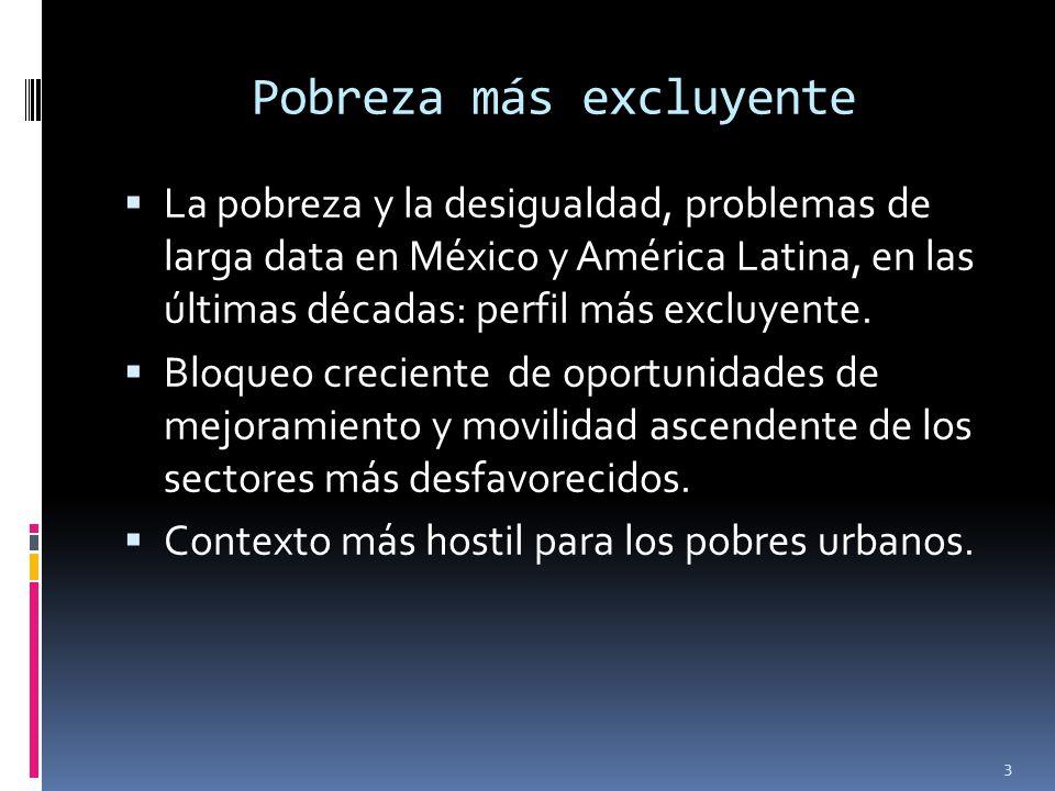 Pobreza más excluyente