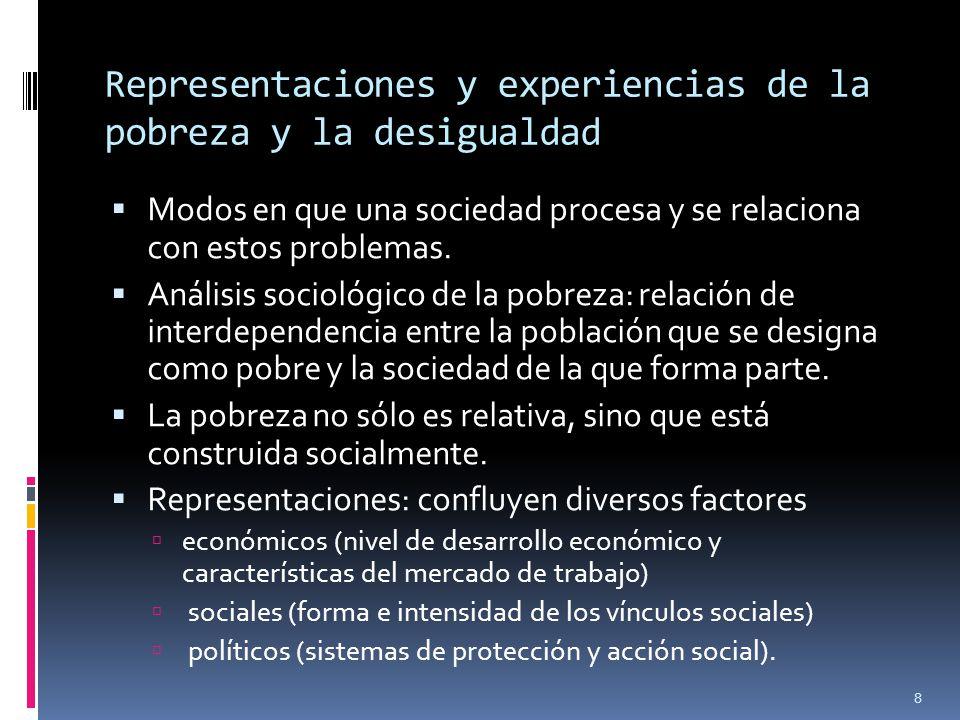 Representaciones y experiencias de la pobreza y la desigualdad