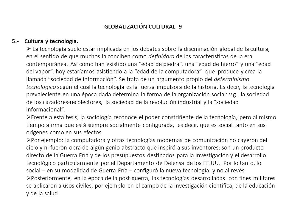 GLOBALIZACIÓN CULTURAL 9