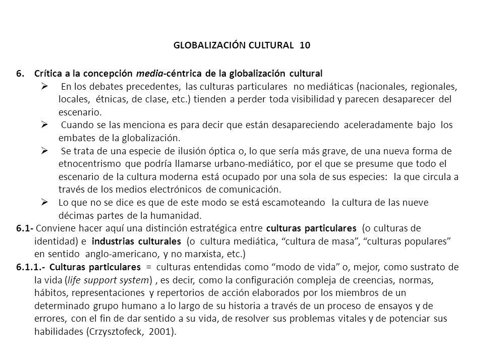 GLOBALIZACIÓN CULTURAL 10