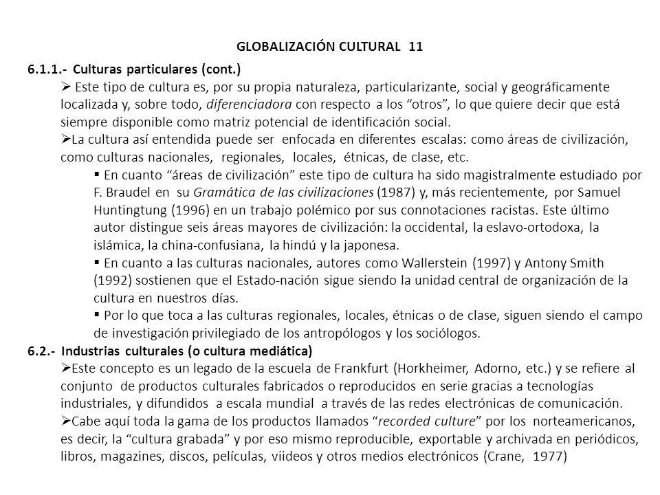 GLOBALIZACIÓN CULTURAL 11