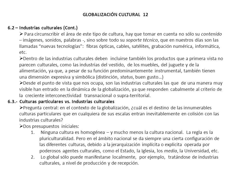 GLOBALIZACIÓN CULTURAL 12
