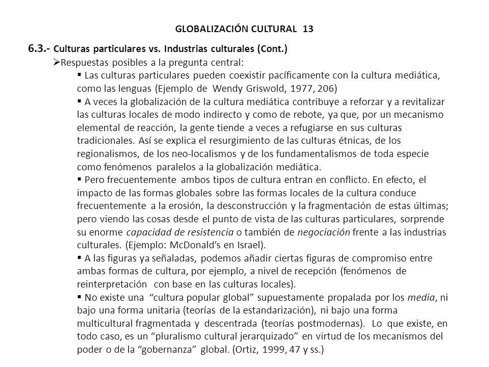 GLOBALIZACIÓN CULTURAL 13