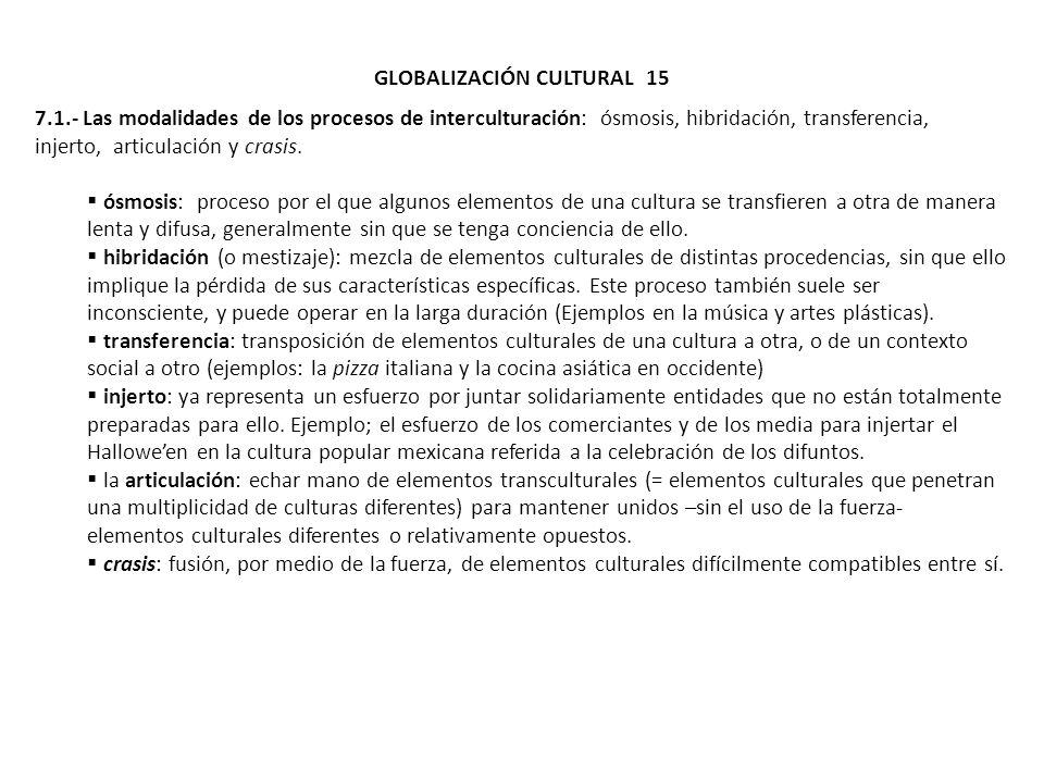 GLOBALIZACIÓN CULTURAL 15