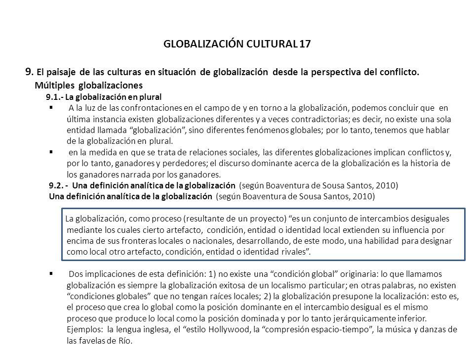 GLOBALIZACIÓN CULTURAL 17