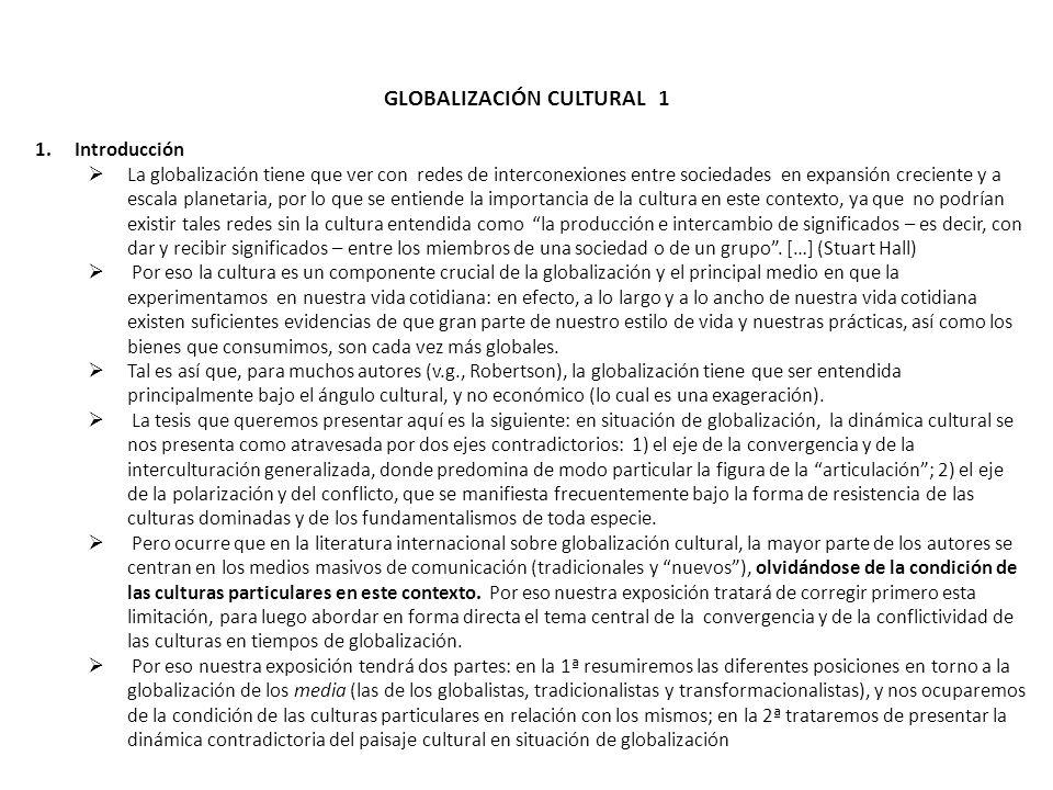 GLOBALIZACIÓN CULTURAL 1