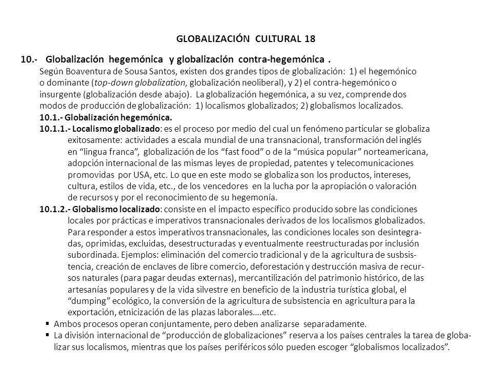 GLOBALIZACIÓN CULTURAL 18
