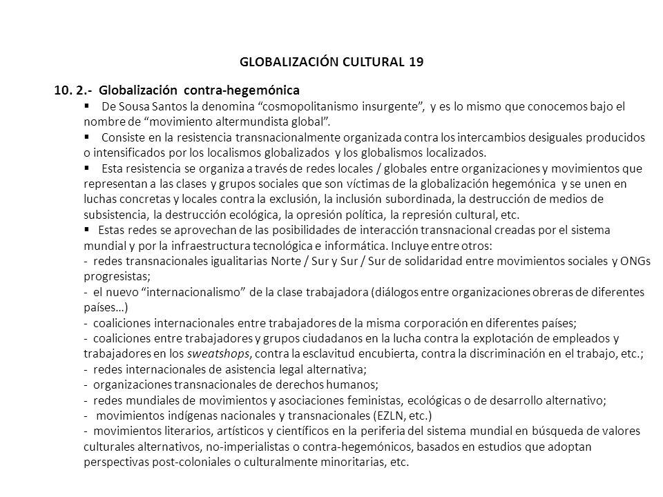 GLOBALIZACIÓN CULTURAL 19