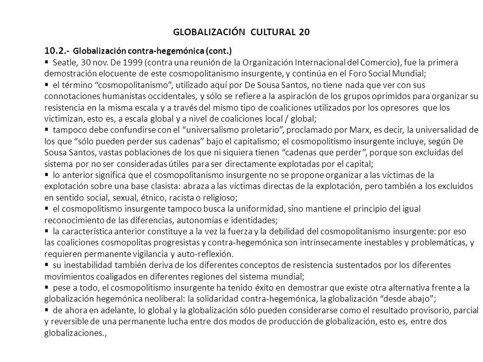 GLOBALIZACIÓN CULTURAL 20
