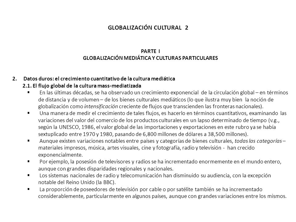 GLOBALIZACIÓN CULTURAL 2
