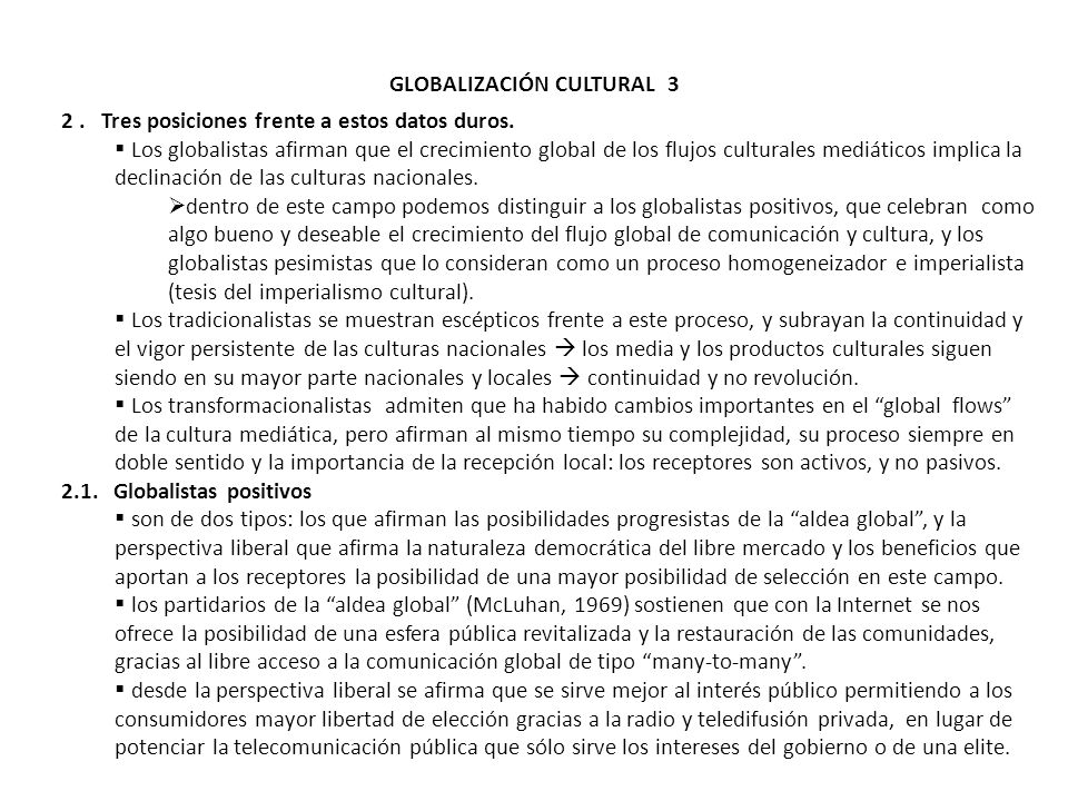 GLOBALIZACIÓN CULTURAL 3