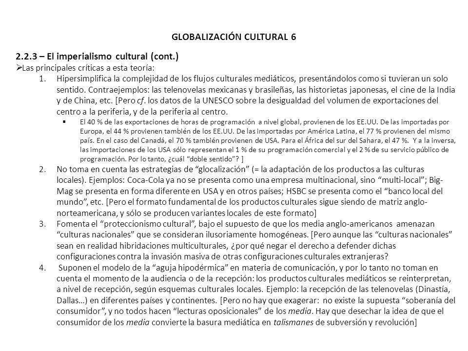 GLOBALIZACIÓN CULTURAL 6