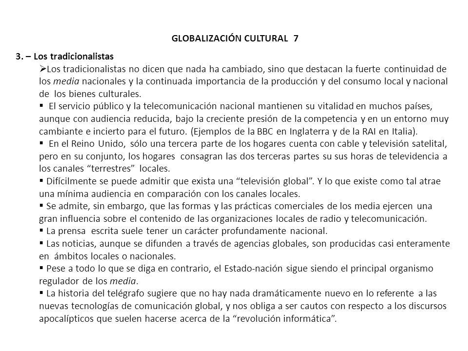 GLOBALIZACIÓN CULTURAL 7