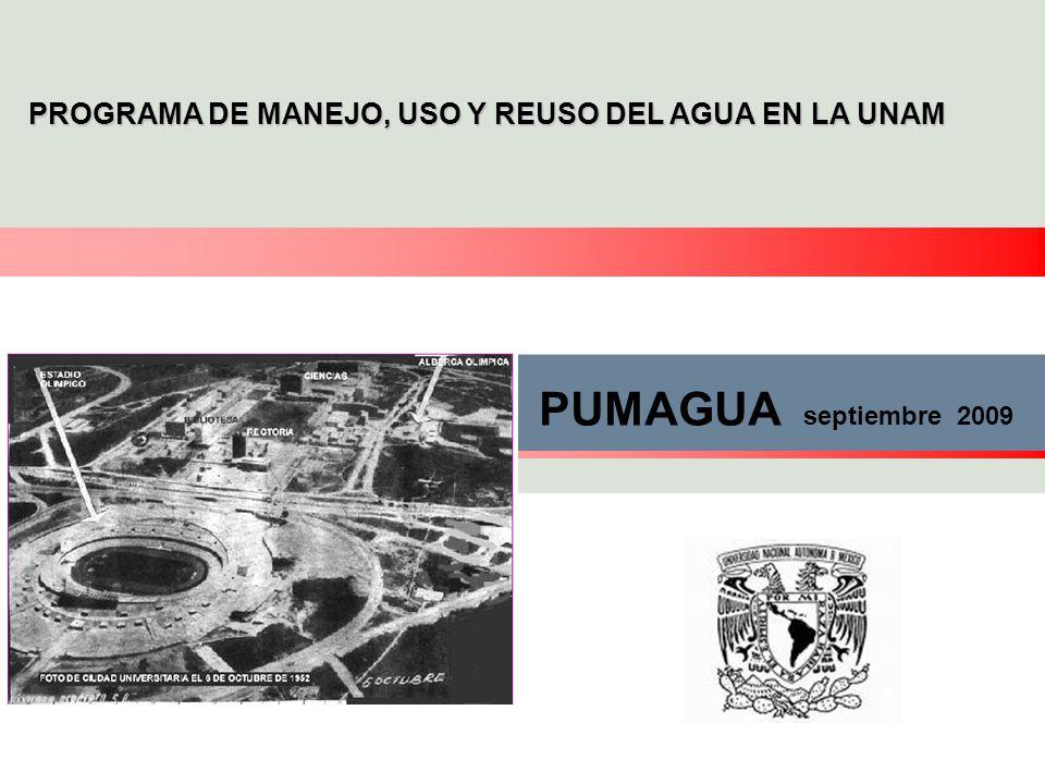 PROGRAMA DE MANEJO, USO Y REUSO DEL AGUA EN LA UNAM