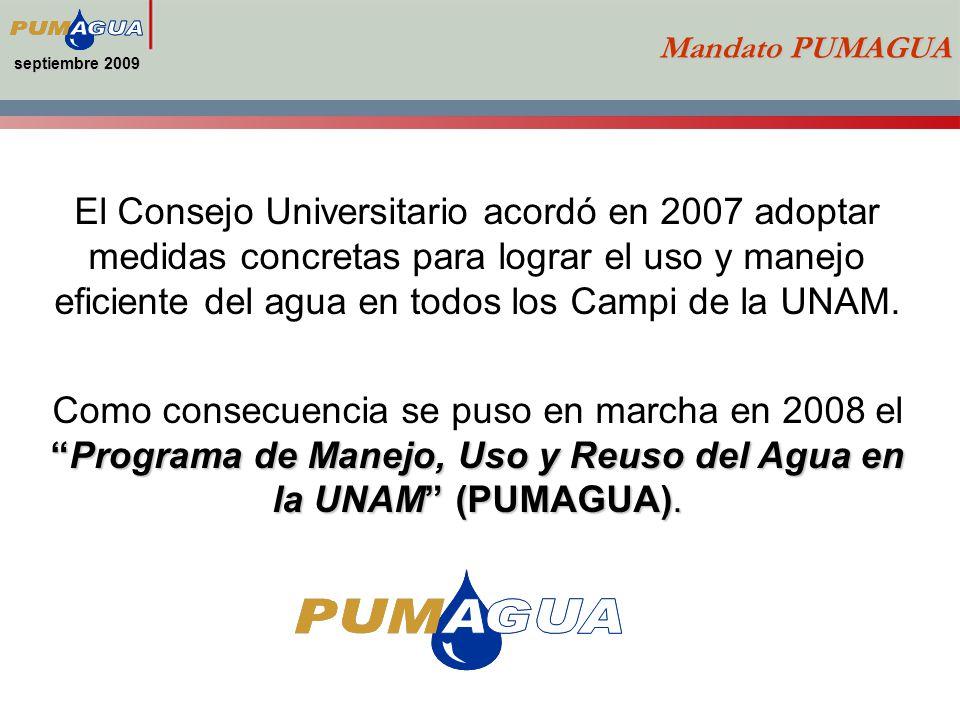 septiembre 2009 Mandato PUMAGUA.
