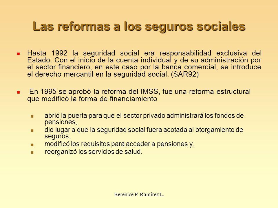 Las reformas a los seguros sociales