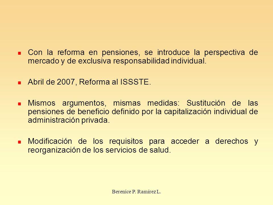 Abril de 2007, Reforma al ISSSTE.