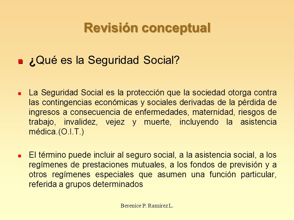 Revisión conceptual ¿Qué es la Seguridad Social