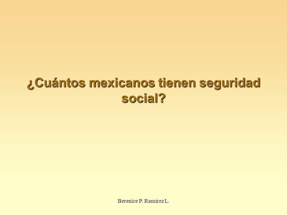 ¿Cuántos mexicanos tienen seguridad social