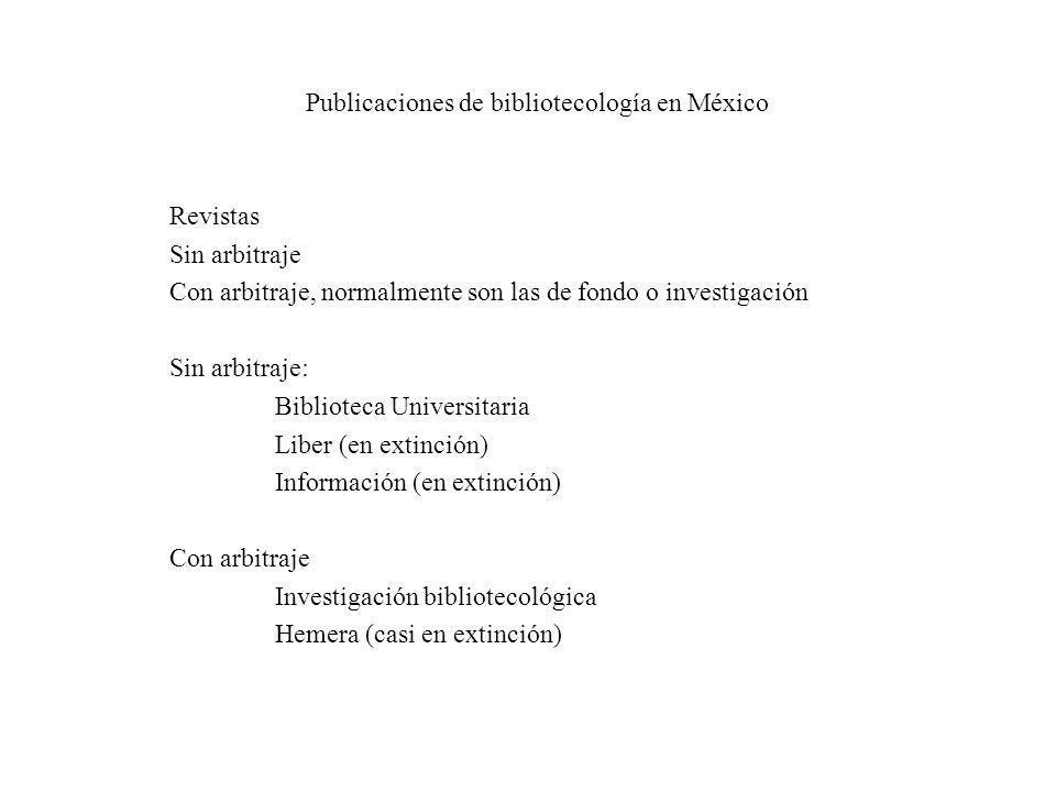 Publicaciones de bibliotecología en México