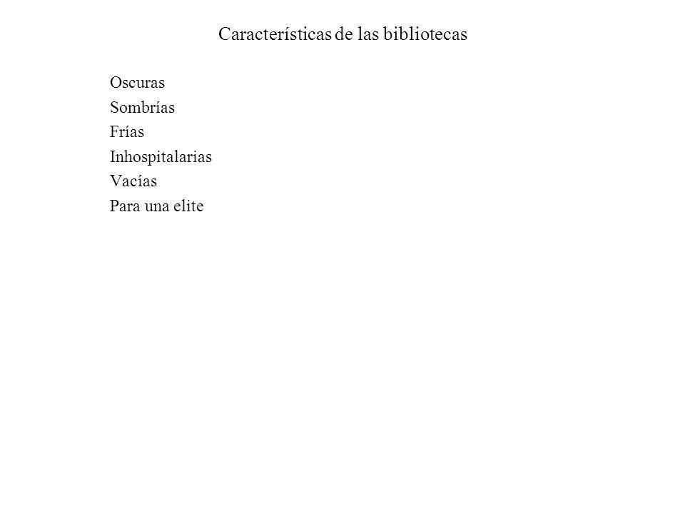 Características de las bibliotecas