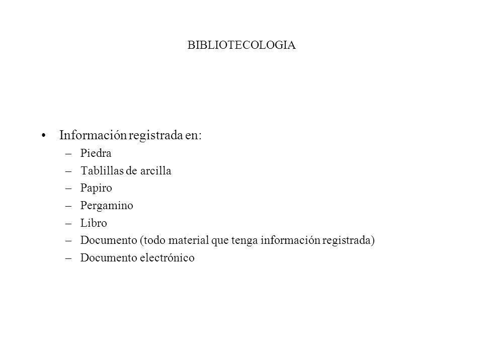 Información registrada en: