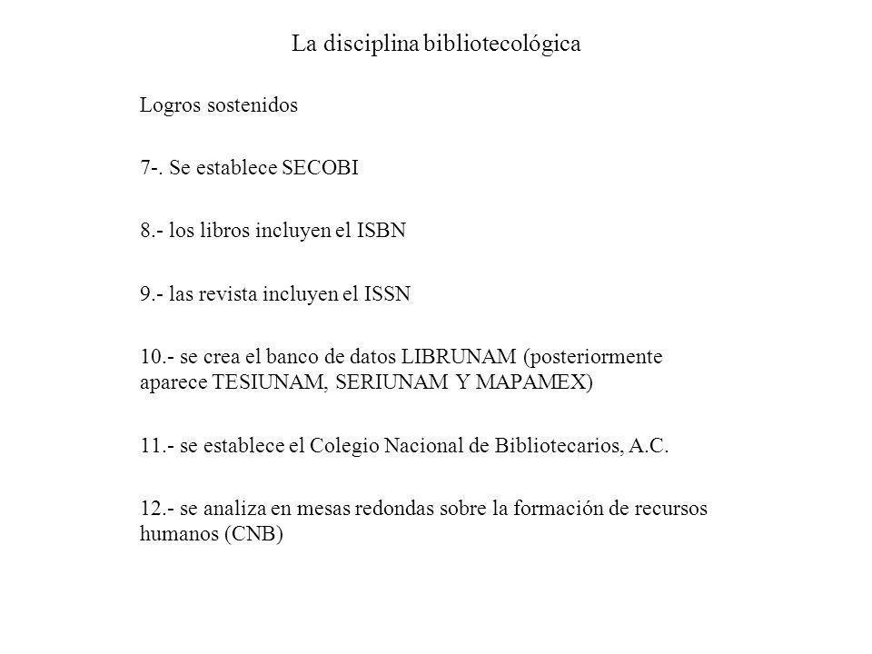 La disciplina bibliotecológica