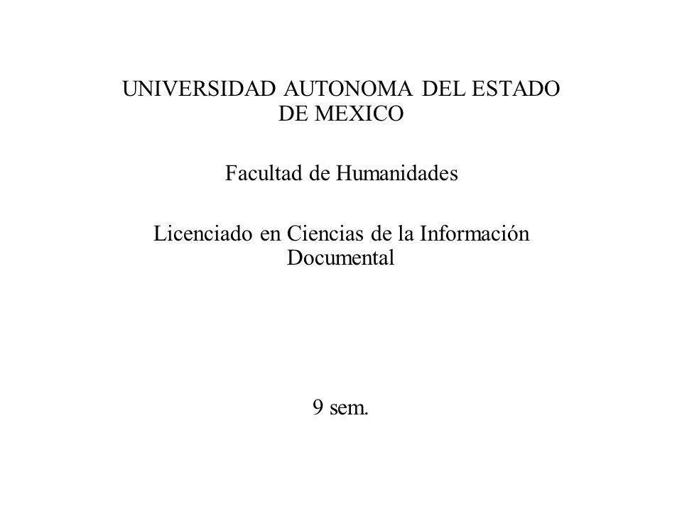 UNIVERSIDAD AUTONOMA DEL ESTADO DE MEXICO
