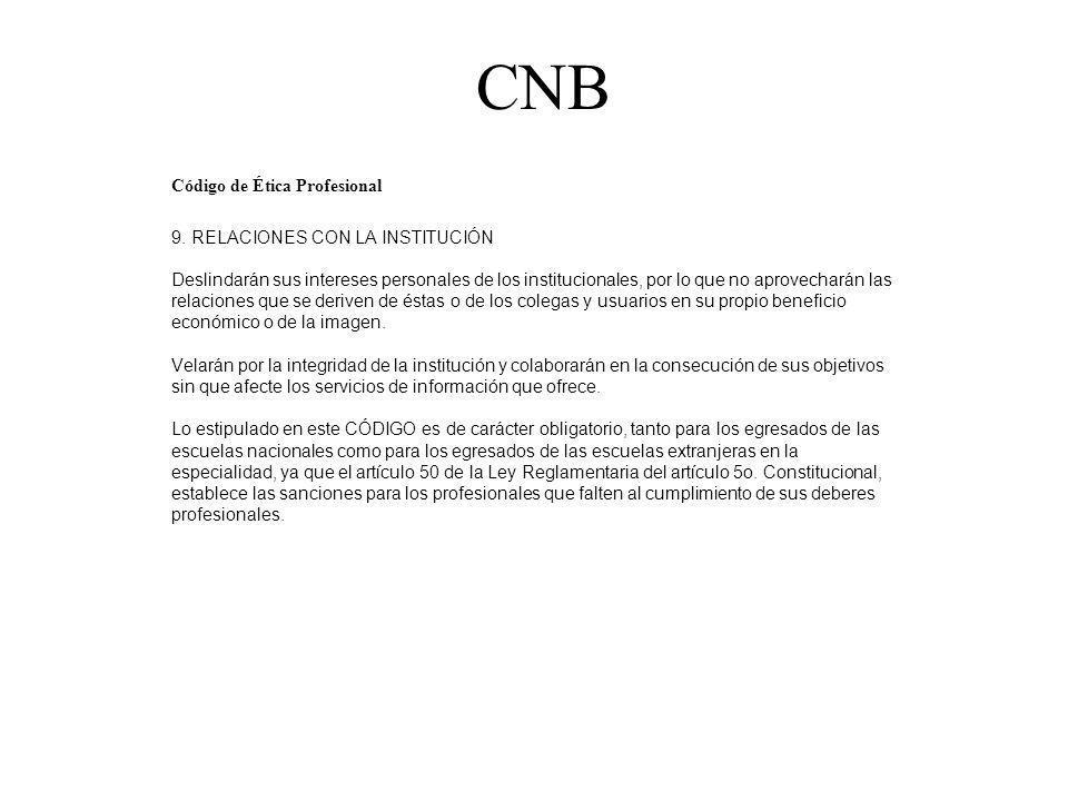 CNB Código de Ética Profesional