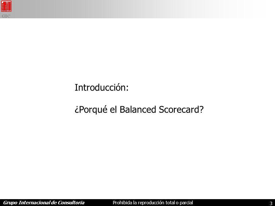 Introducción: ¿Porqué el Balanced Scorecard