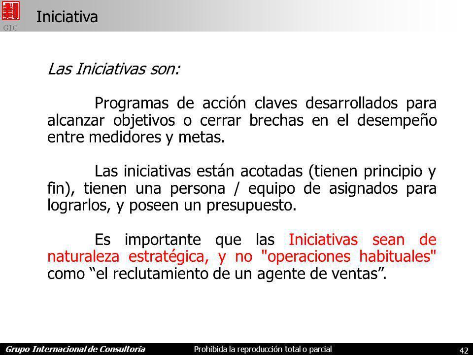 Iniciativa Las Iniciativas son: