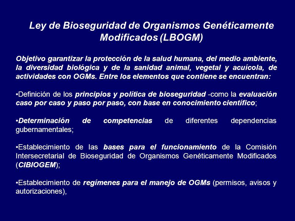 Ley de Bioseguridad de Organismos Genéticamente Modificados (LBOGM)