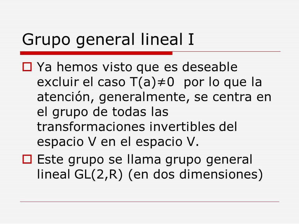 Grupo general lineal I