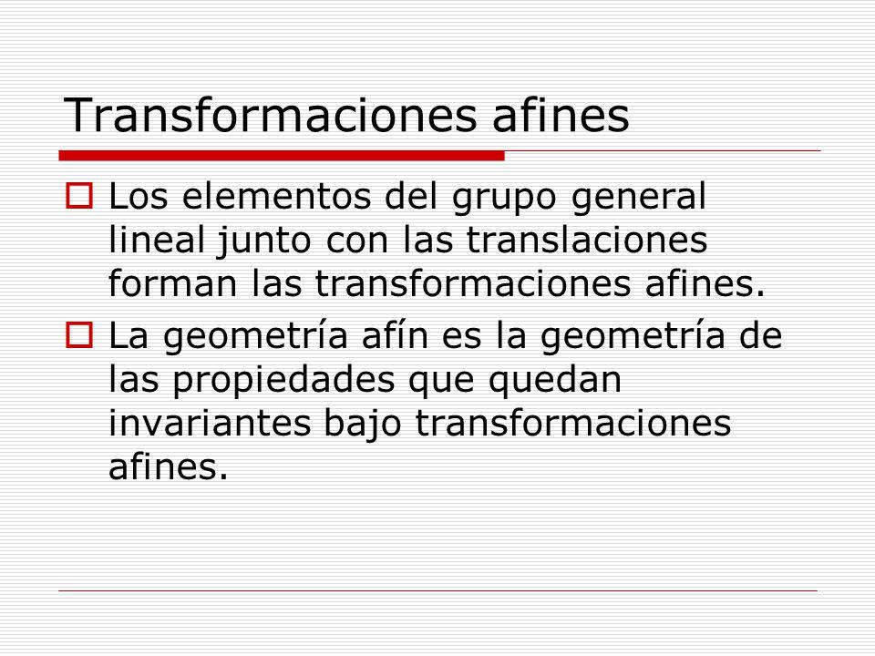 Transformaciones afines