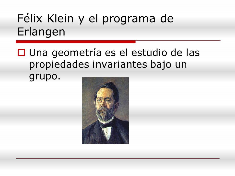 Félix Klein y el programa de Erlangen