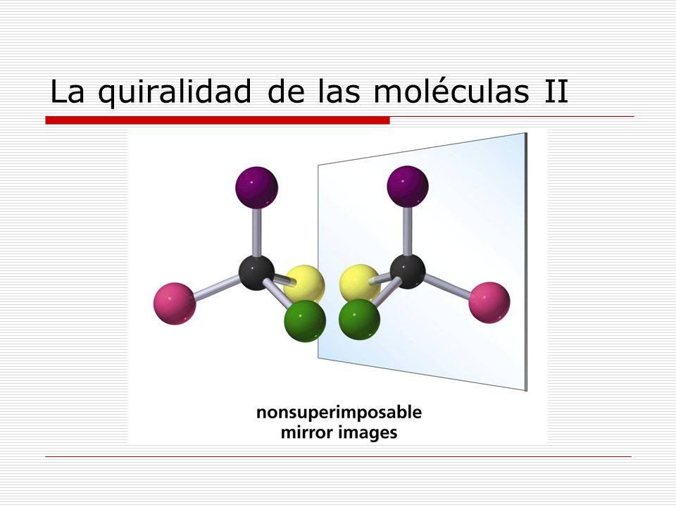 La quiralidad de las moléculas II