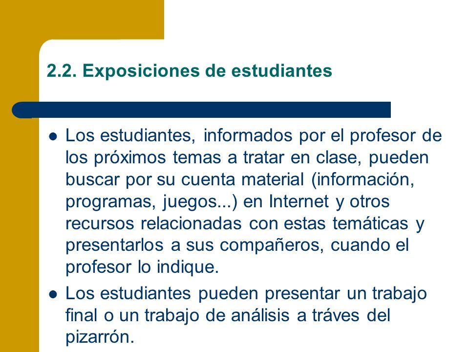 2.2. Exposiciones de estudiantes